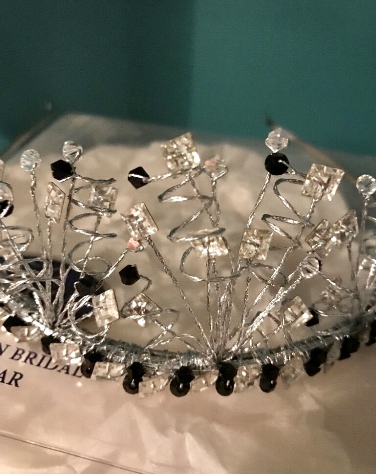 49c96e80e Swarovski black and clear crystal tiara   Sell my Wedding Dress   £80.00    In Stock