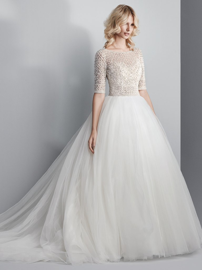 Beautiful Wedding Dresses.Model Allen Sottero And Midgley Beautiful Wedding Dress