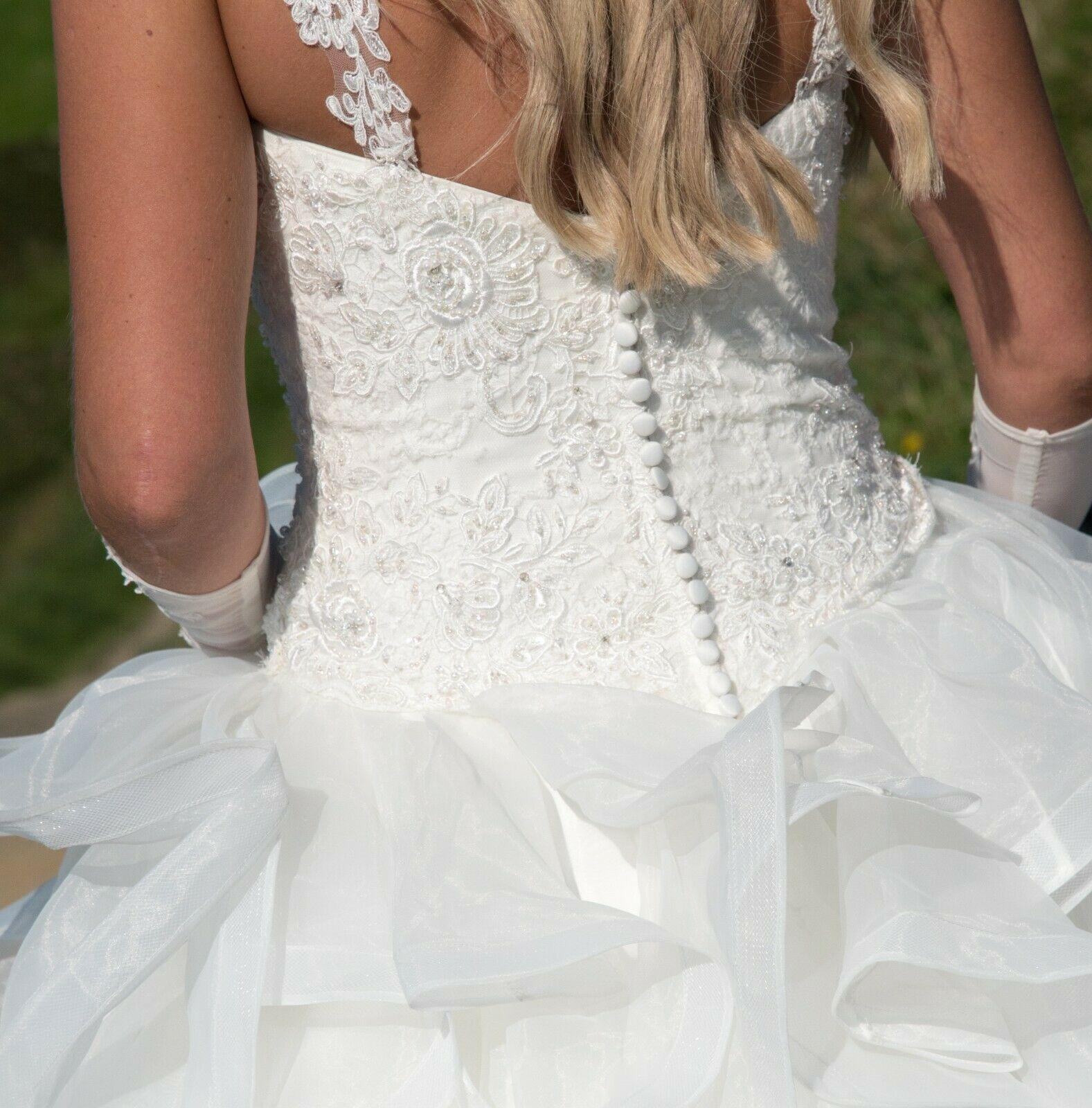 Eddy K Designer Italian Wedding Dress Ivory Size 8